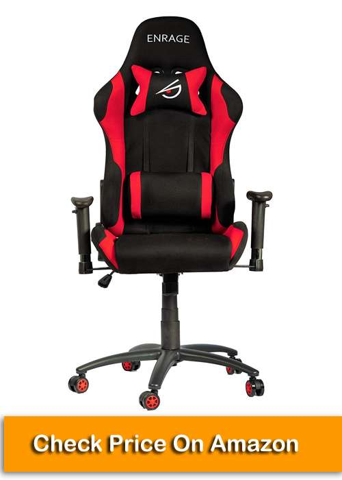 Enrage Fabric (Red and Black) Gaming Chair