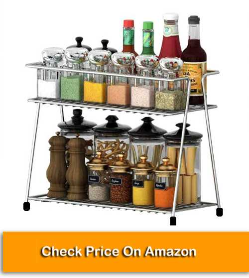 Stainless Steel 2-Tier Trolley Container Organizer