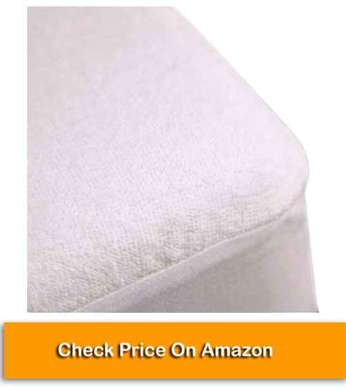 Trance Home Linen Cotton Terry Fabric Waterproof King Size Mattress Protector