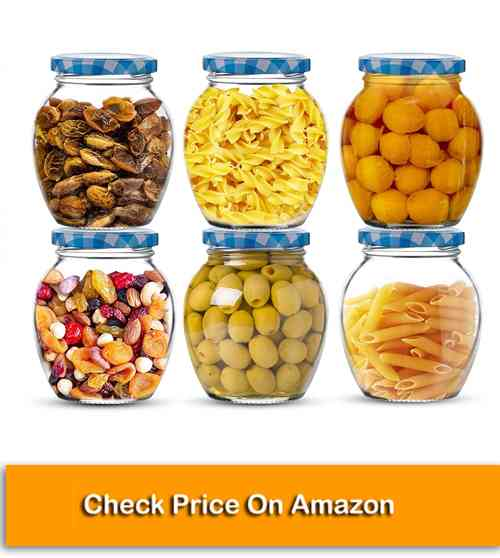 STAR WORK Matka Glass Jar, Kitchen Containers for Storage of Spices