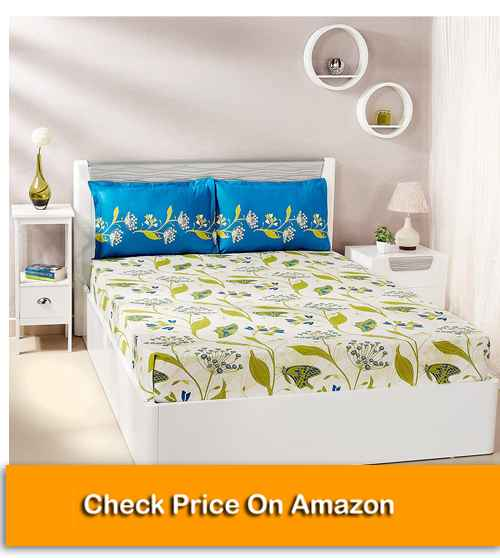 Solimo Lily Bloom Best Cotton Bed Sheets