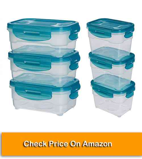 Food Storage Kitchen Containers Set of 3, Multicolo