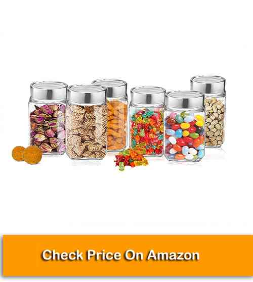Treo By Milton Kitchen Containers, Cube Storage Glass Jar