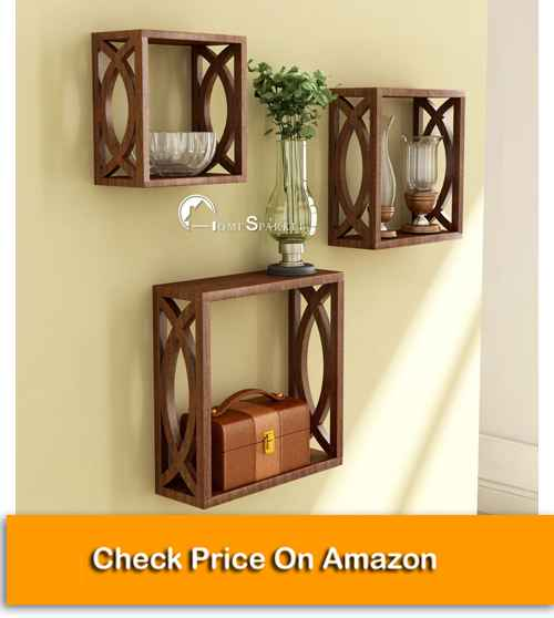 Cube Design Wall Mounted Best Wall Shelf for Plants