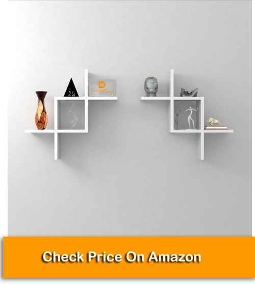 Intersecting Storage Wall Shelves